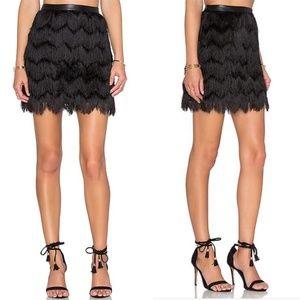 Sam Edelman fringe flapper style skirt
